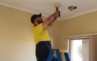 The owner Michael doing a downlight installation